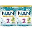NAN 2 Optipro leche de continuación premium en polvo desde los 6 meses sin aceite de palma 2 x 800 g Nestlé