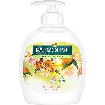 PALMOLIVE Naturals Jabón líquido de manos con leche de almendras piel sensible dosificador 300 ml Dosificador 300 ml