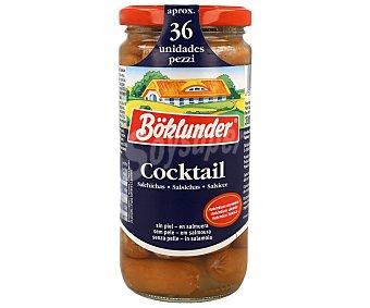 Boklunder Salchichas alemanas auténticas cóctel frasco Frasco 250 g (peso neto escurrido) (36 u)