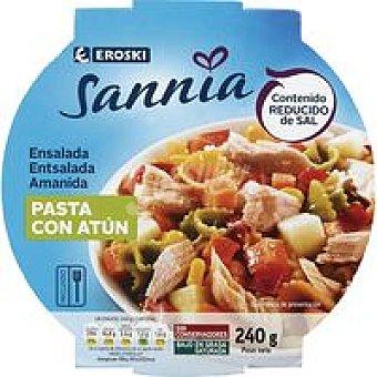 Eroski Sannia Ensalada de pasta con atún Tarrina 240 g
