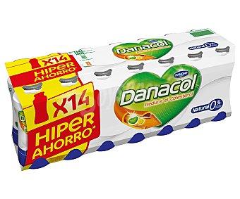 DANACOL de DANONE Yogur líquido natural 14 unidades de 100 g