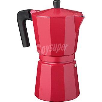 Unit Cafetera de aluminio 6 tazas en color rojo