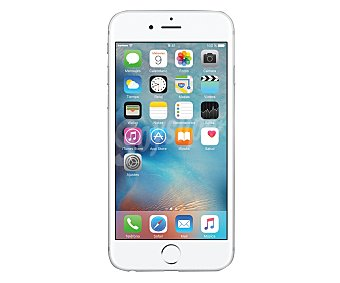 """Plata Smartphone libre iphone 6S , procesador: A9, almacenamiento: 64GB, pantalla: 4.7"""" 1334 x 750px, cámara: 12 Mpx, conectividad , sensor de huella dactilar, iOS 9 4G"""