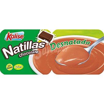 Kalise Natillas chocolate desnatada 0,6 % m. g Pack 4 unidades 135 g