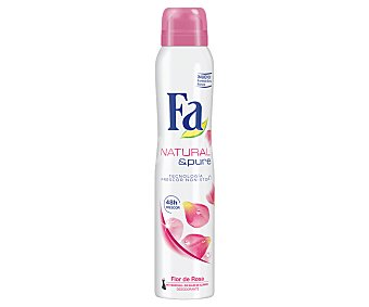 Fa Desodorante en Spray Natural & Pure Rosa 200 Mililitros