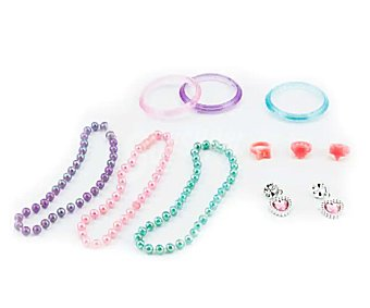Productos Económicos Alcampo Conjunto de pendientes, anillos, pulsera y collar alcampo