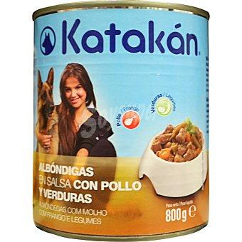 Albóndigas en salsa con pollo y verduras para perros Lata 800 g