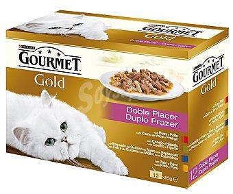 Gourmet Comida húmeda para gatos adultos Gourmet Gold Doble Placer 1,02 kg
