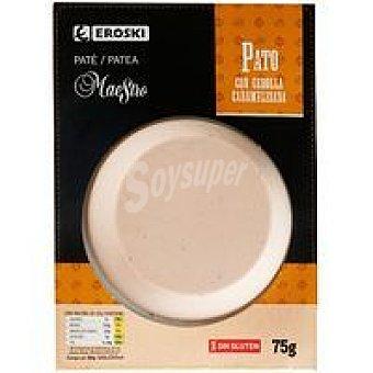 Eroski Paté de pato-cebolla caramelizada Blister 75 g