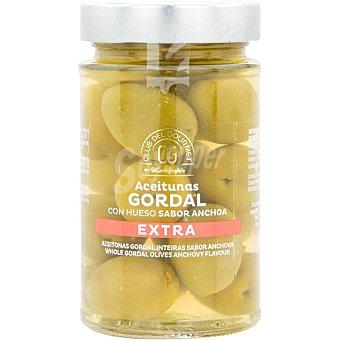 Club del gourmet Aceitunas gordal con hueso sabor anchoa extra Tarro 160 g neto escurrido