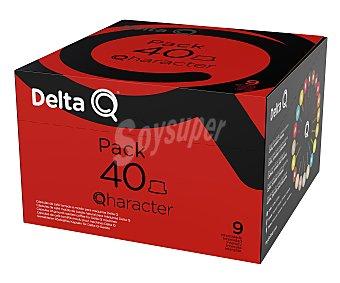 Delta Q Café en cápsulas Qharacter, Intensidad 10 40 uds. x 5,5 g