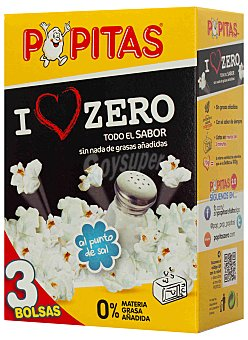 Borges Popitas BORGES ZERO PACK 3x70 GRS (210 gramos)