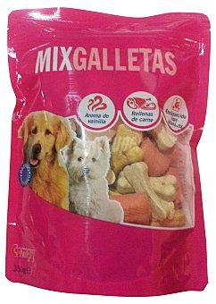 Compy Comida perro galleta mix aroma vainilla y rellena de carne adulto Paquete 350 g