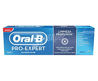Oral-B Pasta de dientes para una limpieza profunda con fluoruro de estaño para proteger las áreas que los dentistas más cuidan 75 mililitros