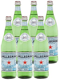 San Pellegrino Agua mineral con gas pack 6 x 1L