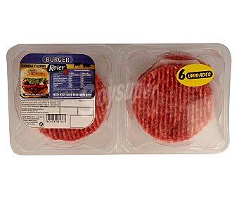 Roler Burger meat mixta de ternera y cerdo 6 uds de 80 gr
