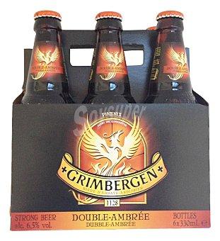 Grimbergen Cerveza Abadía Botellín pack 6 x 330 cc - 1980 cc