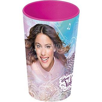 Disney Vaso apilable con diseño Violetta en color rosa 1 unidad