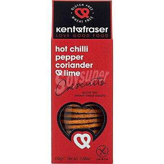 Kentfraser Galletas saladas con chili picante y toque de lime sin gluten caja 110 g caja 110 g