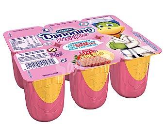 DANONE DANONINO Petit 2 fresa + 2 melocotón + 2 plátano 6 unidades de 50 g