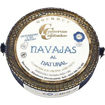 Conservas de cambados Navajas al natural depuradas 8-10 piezas lata 154 g neto escurrido Lata 154 g neto escurrido