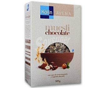 KöLLN Muesli con copos de avena integrales y pepitas de chocolate 500 Gramos
