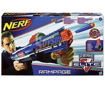 NERF Lanzador de Tambor Elite Rampage con 25 Dardos 1 Unidad