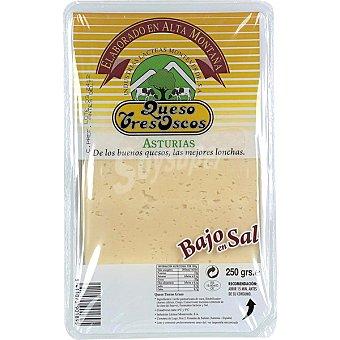 Tres Oscos Queso en lonchas bajo en sal Envase 250 g