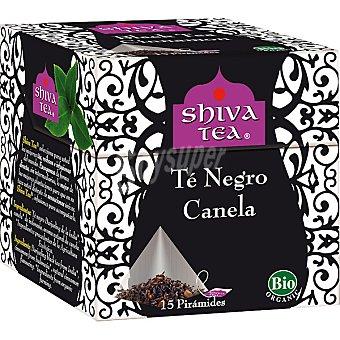 SHIVA TEA té negro Darjeeling con canela 15 bolsitas Envase 30 g