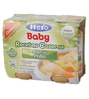 Hero Baby Tarrito Recetas Caseras guiso pollo Pack de 2x200 g