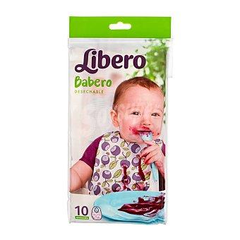 Libero Babero bebe desechable Paquete 10 unidades