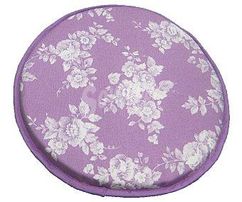 AUCHAN Cojín estampado para taburete, modelo Panama, color violeta 30x30 centímetros 1 Unidad