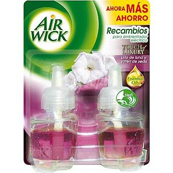 Air Wick Ambientador Eléctrico Recambio Lirio Luna & Satén de Seda 2 unidades
