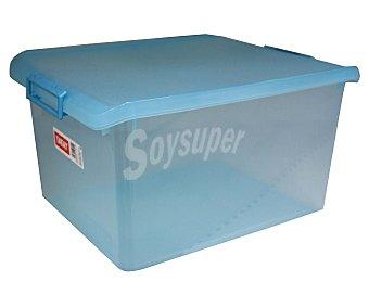 Tatay Caja ordenación multiúsos con tapa, capacidad de 35 litros. Fabricada en plástico color turquesa translúcido 1 Unidad