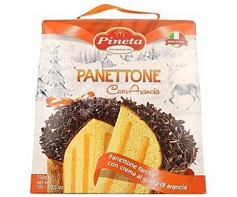 Pineta Panettone con crema de naranja recubierto de chocolate, Caja 750 g