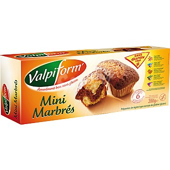 VALPIFORM minibizcocho marmolado sin gluten envase 200 g