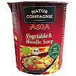 Sopa de verduras y fideos estilo asiatico bio ecológica Vaso 55 g Natur Compagnie