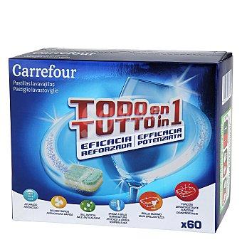 Carrefour Lavavajillas pastillas todo en uno Caja de 60 pastillas