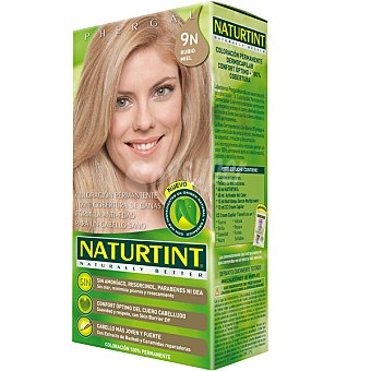 Naturtint Tinte rubio miel 9N color permanente sin amoniaco Caja 1 unidad