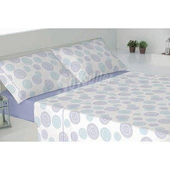 CASACTUAL Juego de cama con dibujo de círculos en color azul Cáceres 1 unidad