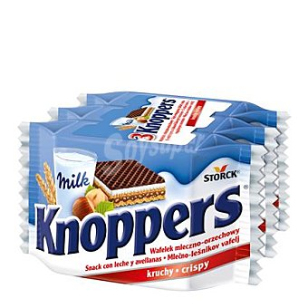 KNOPPERS Chocolatina con leche y avellanas 3x75 g
