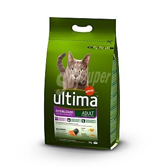 Ultima Affinity Comida para gatos esterilizados sabor salmón Bolsa 3 kg