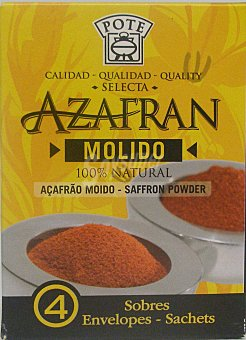 Pote Azafrán molido pack de 4x0,1 g