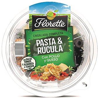 FLORETTE Ensalada completa pasta y rucula con pollo y queso  tarrina 300 g