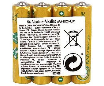 AAA PRODUCTO ECONÓMICO Paquete de 4 pilas alcalinas del tipo alcampo