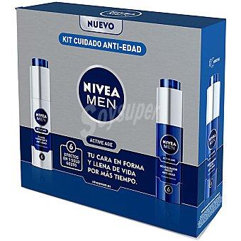 Nivea For Men Pack cuidado completo con fluido hidratante de día Active Age