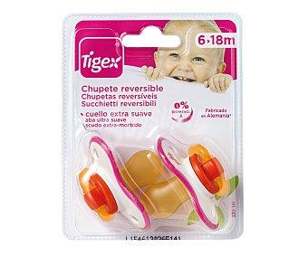 TIGEX Chupete reversible de látex para niña