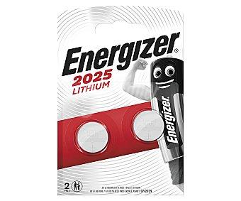 Energizer Modelo 2025 3 voltios Blister 2 unidades