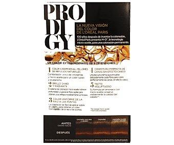 PRODIGY tinte Chocolate Suave castaño chocolate cobrizo nº 5.35 coloración extraordinaria tecnología micro-aceite sin amoniaco caja 1 unidad