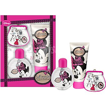 DISNEY2 Minnie eau de toilette infantil + gel de baño tubo 100 ml + monedero Spray 50 ml